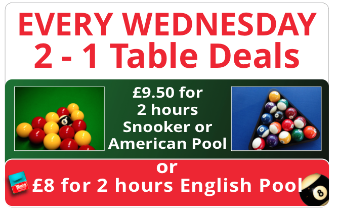 wednesday table deals
